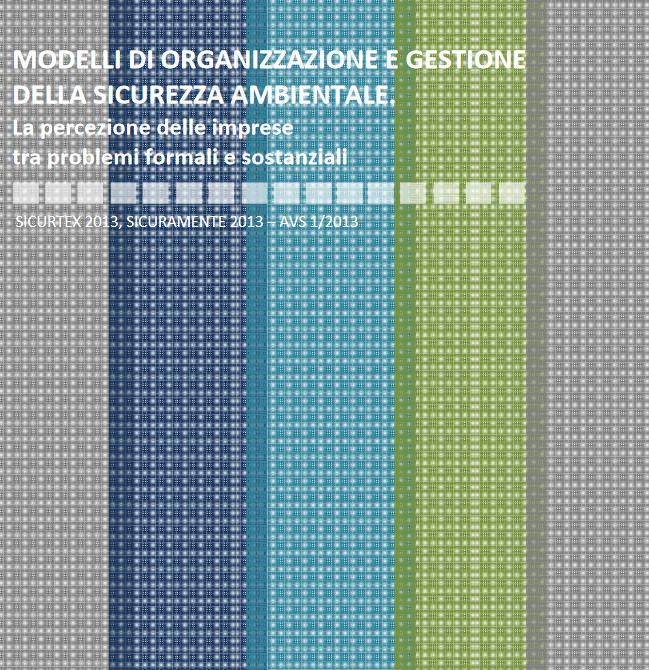 Modelli di organizzazione e gestione della sicurezza ambientale