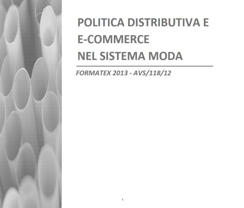 Politica distributiva e E-commerce nel sistema moda